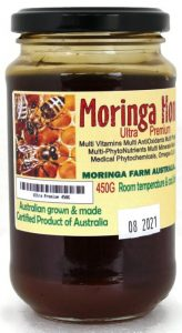 Moringa Farm Australia Ultra Premium Moringa Honey 450G