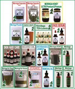 Moringa Farm Australia Products 2011-2019