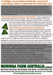 TEA INSTRUCTIONS pre 2015